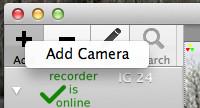 Add Camera menu