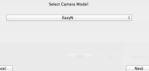 Select Camera Model